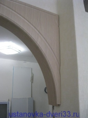 Вид отпиленного края детали свода арки. Установка дверей во Владимире.