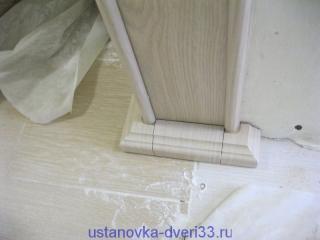 Декоративное основание арки в сборе. Установка дверей во Владимире.
