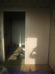 Установленная дверь-купе. Установка дверей Владимир.