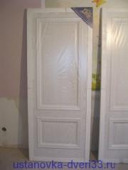 Дверь в заводской упаковке. Установка дверей во Владимире.
