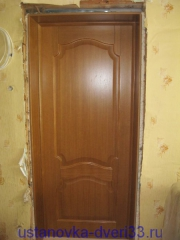 Установка откосов к двери. Установка дверей во Владимире и области.