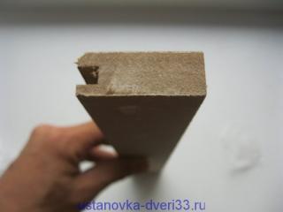 Доборная планка с пазом. Установка дверей во Владимире и области.