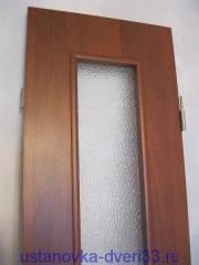 Створка двери-книжки с врезанными с обеих сторон петлями. Установка дверей во Владимире.