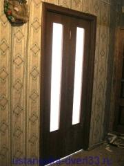 Дверь-книжка в закрытом состоянии. Установка дверей во Владимире.