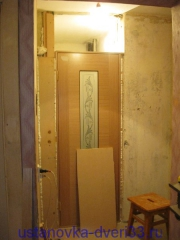 Готовая панель для заделки проема. Установка дверей во Владимире.