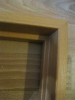 Готовый стык коробочного бруса. Установка дверей во Владимире