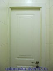 Распиленный вдоль наличник. Установка дверей во Владимире.