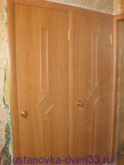 Сдвоенная дверная коробка. Установка дверей во Владимире.