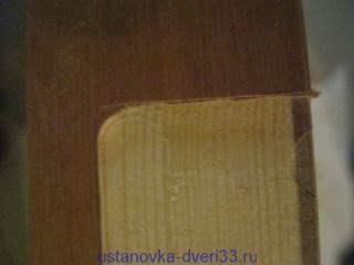 Закругленные углы у выборки фрезером. Установка дверей во Владимире.
