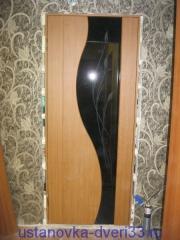Точечная запенка швов. Установка дверей во Владимире.