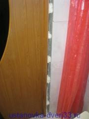 Расстояние между точками пены. Установка дверей во Владимире.