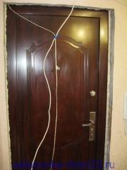Вид двери без откосов. Установка дверей во Владимире.