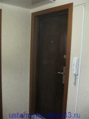 Вид двери с откосами. Установка дверей во Владимире.