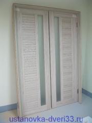 Готовый к установке дверной блок. Установка дверей во Владимире и области.