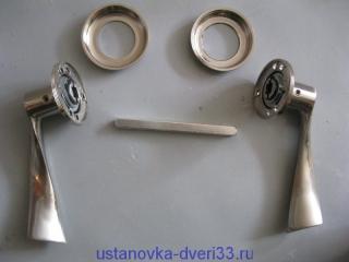 Фалевые ручки в разобранном виде. Установка дверей во Владимире.