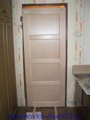 Примеряем дверь в проем. Установка дверей во Владимире и области.