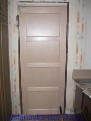 Проем над дверью заделан. Установка дверей во Владимире и области.