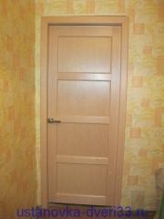 Наличники приклеены. Установка дверей во Владимире и области.