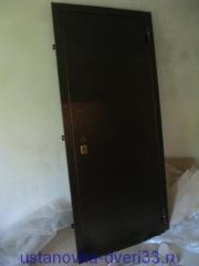 """Распакованная металлическая входная дверь \""""Эстет\"""".Установка дверей во Владимире."""