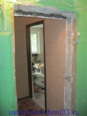Дверной проем входной двери. Установка дверей во Владимире.
