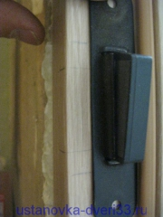 Отметки места крепления ответной планки магнитного замка. Установка дверей во Владимире.