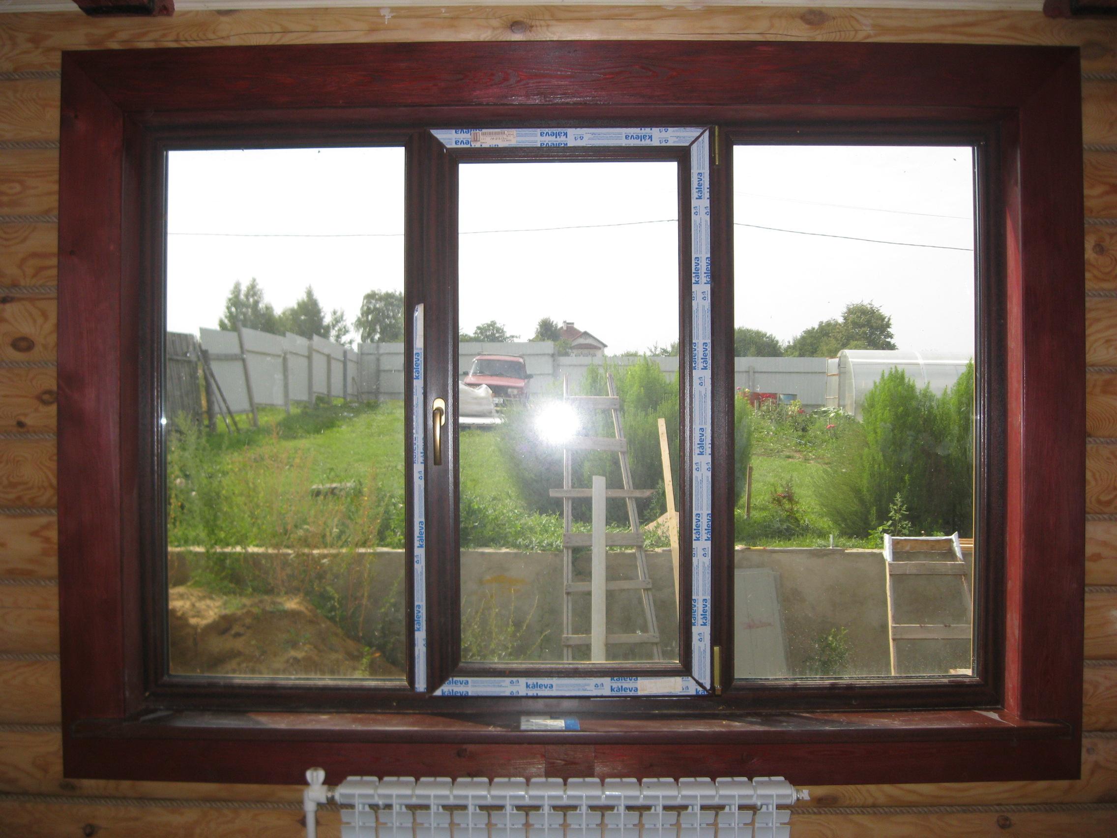 Установка дверей во Владмире и области. Оконные откосы из крашенной лиственницы.