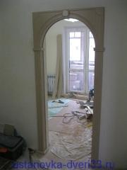 Установка арки завершена. Установка дверей во Владимире.