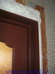Запенка швов. Установка двери Владимир.