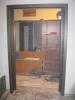 Установка двери-купе завершена. Дверь-купе в открытом состоянии. Установка дверей во Владимире.