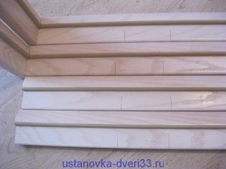 Коробочный брус с отметкой для врезки петель. Установка дверей во Владимире.