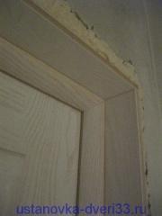 Дверной длок с установленныйм добором. Установка дверей во Владимире.