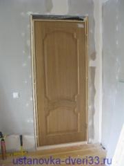 Дверной блок на своем месте. Установка дверей во Владимире и области.