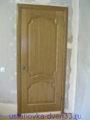 Установка двери завершена вид снаружи. Установка дверей во Владимире и области.