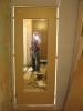 Установленный в проем дверной блок. Полюбуйтесь на мастера :) Установка дверей во Владимире.
