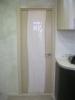 Установленная дверь с наличниками, запиленныеми под 90 градусов.Установка дверей во Владимире.