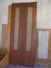 Две створки 40 см. шириной для двери-книжки. Установка дверей во Владимире.