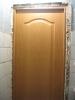 Установленный дверной блок, запенка швов. Установка двери Владимир