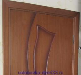 Широкий отступ от края дверной коробки до наличника. Установка дверей во Владимире.