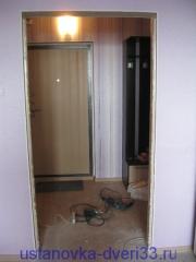Готовый к установке двери суженный проем. Установка дверей во Владимире.