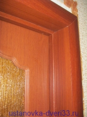 Стыки дверной коробки, добора и наличников. Установка дверей во Владимире.
