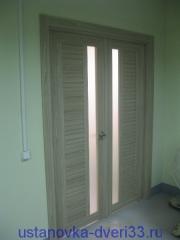 Установка двупольной (распашной) двери завершена. Установка дверей во Владимире и области.