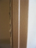 Фрагмент коробочного бруса без добора. Установка дверей Владимир.