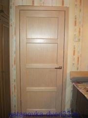 Установка двери в старую металлическую коробку завершена. Установка дверей во Владимире и области.
