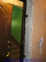 Вид ответной части дверной коробки изнутри. Установка дверей во Владимире.
