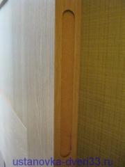 Выборка под лицевую планку защелки. Установка дверей во Владимире.