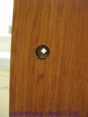 Отверстие под фиксатор замка двери-купе. Установка дверей во Владимире.