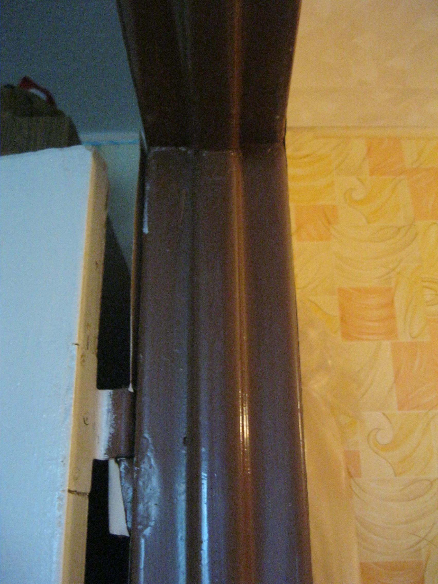 Установка двери в старую металлическую коробку. Установка дверей во Владимире и области.