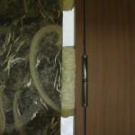 Точечная запенка швов
